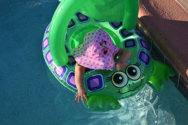 basen a przeziębienie u dziecka
